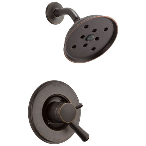 Delta Linden Venetian Bronze Shower only Faucet with Separate Temperature and Pressure Control Handles Includes Trim Kit and Rough Valve without Stops D2321V