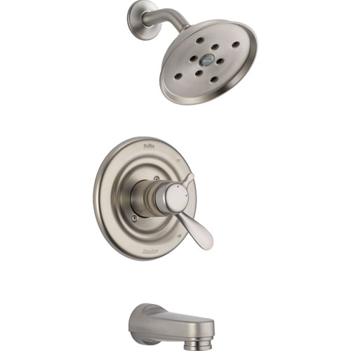 Delta Dual Control Temp/Volume Stainless Steel Finish Tub and Shower Trim 604235