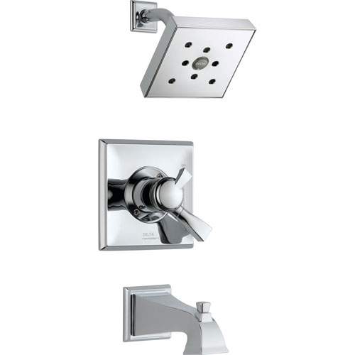 Delta Dryden Temperature/Volume Chrome Tub and Shower Faucet with Valve D373V