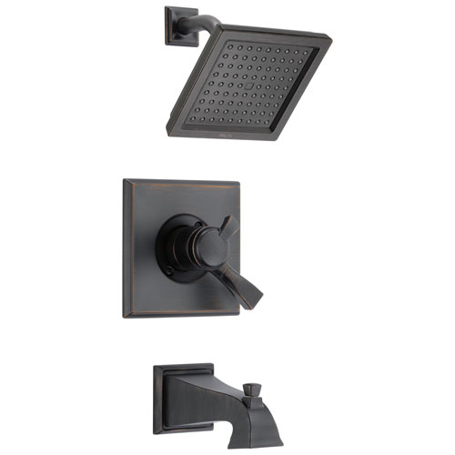 Delta Dryden Venetian Bronze Monitor 17 1.75 GPM Water Efficient Dual Control Tub and Shower Combination Includes Trim Kit and Rough Valve with Stops D2312V