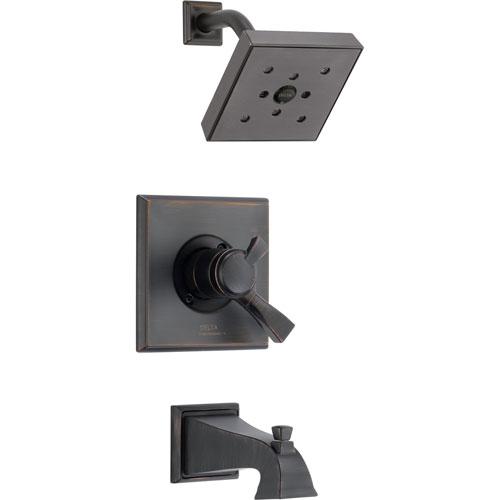 Delta Dryden Temp/Volume Venetian Bronze Tub & Shower Faucet with Valve D375V