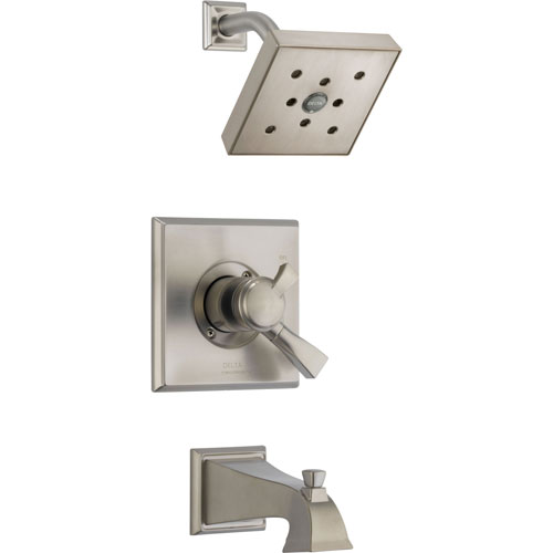 Delta Dryden Temp/Volume Stainless Steel Finish Tub & Shower Faucet Trim 550106