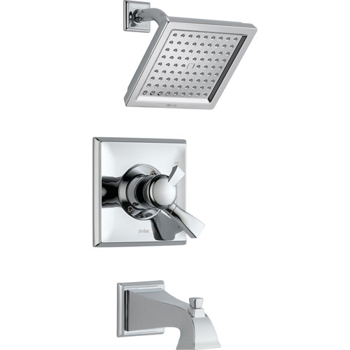 Delta Dryden Temp/Volume Dual Control Chrome Tub and Shower Faucet w/Valve D437V