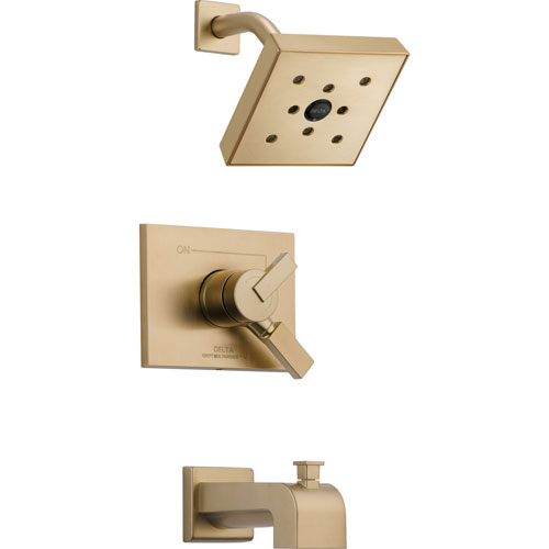 Delta Vero Champagne Bronze Two Control Tub and Shower Faucet with Valve D380V