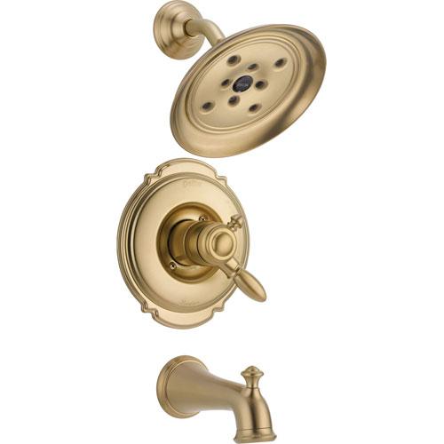 Delta Victorian Champagne Bronze Pressure Balanced Tub and Shower w/Valve D455V
