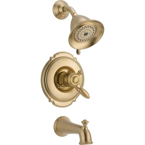 Delta Victorian Champagne Bronze Pressure Balanced Tub and Shower w/Valve D454V