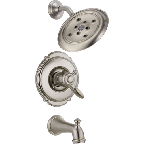 Delta Victorian Dual Control Stainless Steel Finish Tub and Shower w/Valve D425V