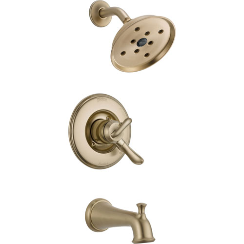 Delta Linden Dual Control Champagne Bronze Tub & Shower Faucet with Valve D421V