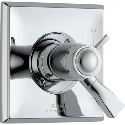 Delta Dryden Modern Chrome Thermostatic Shower Dual Control with Valve D985V