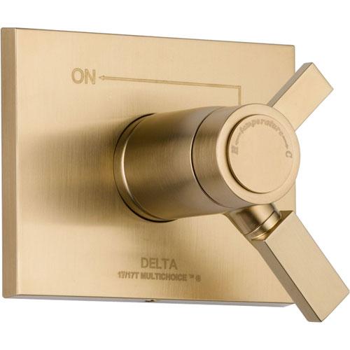 Delta Vero Champagne Bronze Thermostatic Shower Dual Control with Valve D990V