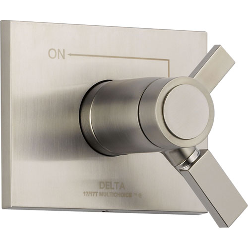 Delta Vero Stainless Steel Thermostatic Shower Dual Control with Valve D992V