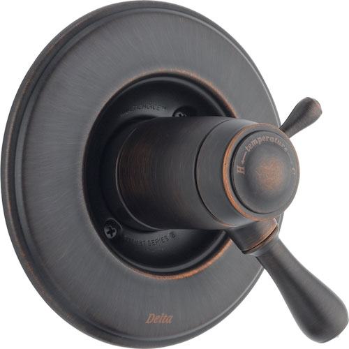Delta Leland Venetian Bronze Thermostatic Shower Dual Control with Valve D998V