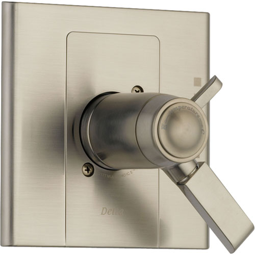 Delta Arzo Stainless Steel Finish Thermostatic Shower Valve Control Trim 550126