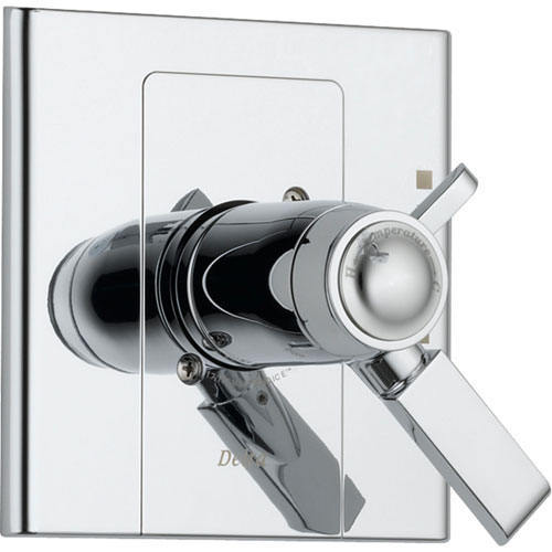 Delta Arzo Modern Chrome Thermostatic Shower Dual Control with Valve D1030V