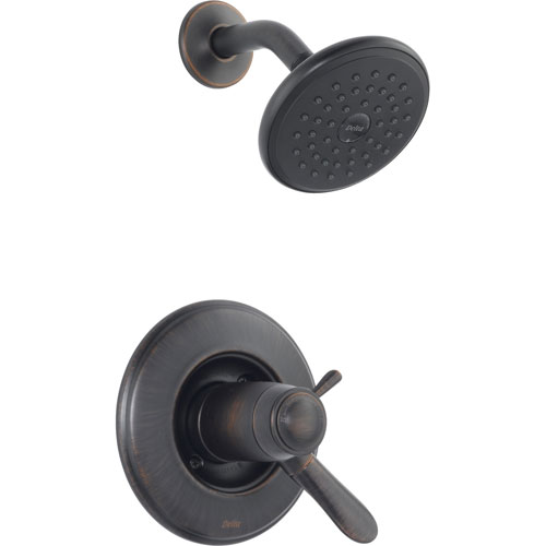 Delta Lahara Venetian Bronze Thermostatic Control Shower Faucet with Valve D800V