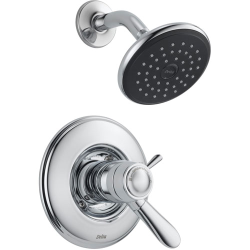 Delta Lahara Dual Control Chrome Thermostatic Shower Faucet with Valve D799V