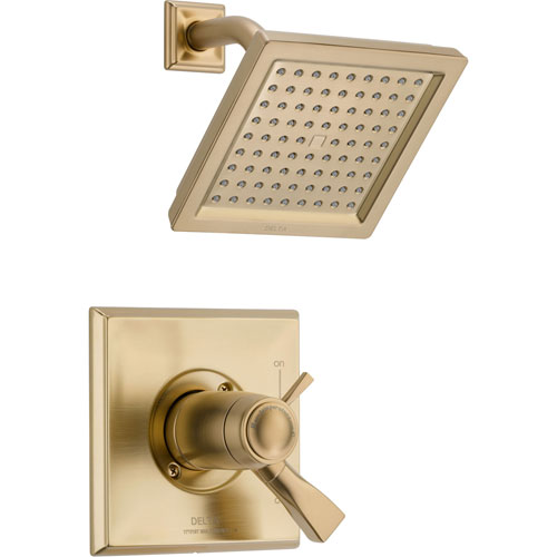 Delta Dryden Champagne Bronze Modern Thermostatic Shower Control w/ Valve D803V