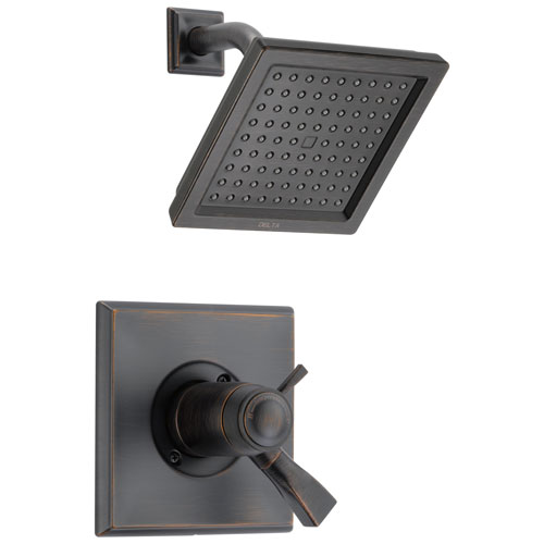 Delta Dryden Collection Venetian Bronze 1.75 GPM Thermostatic Dual Temp / Pressure Control Shower only Faucet Includes Rough Valve without Stops D2265V