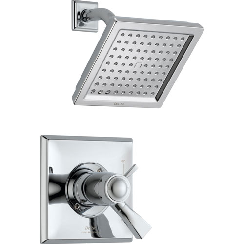 delta dryden dual control chrome modern shower with valve d802v