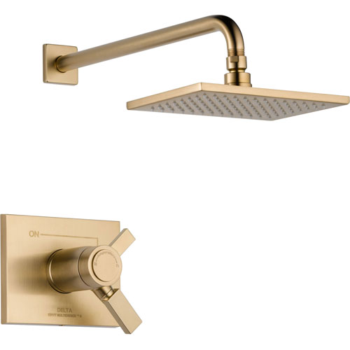 Delta Vero Champagne Bronze Modern Thermostatic Shower Control with Valve D836V