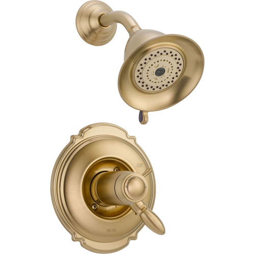 Delta Victorian Champagne Bronze Thermostatic Shower Faucet with Valve D811V