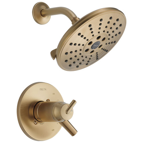 Delta Trinsic Collection Champagne Bronze Thermostatic Dual Temperature / Pressure Control Shower Only Faucet Includes Rough-in Valve without Stops D2253V