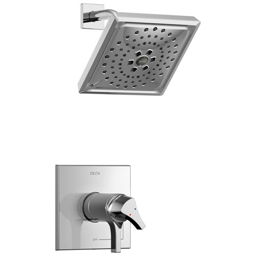 Delta Zura Collection Chrome TempAssure 17T Series Modern Dual Temperature and Volume Control Shower Faucet Includes Rough-in Valve without Stops D1934V