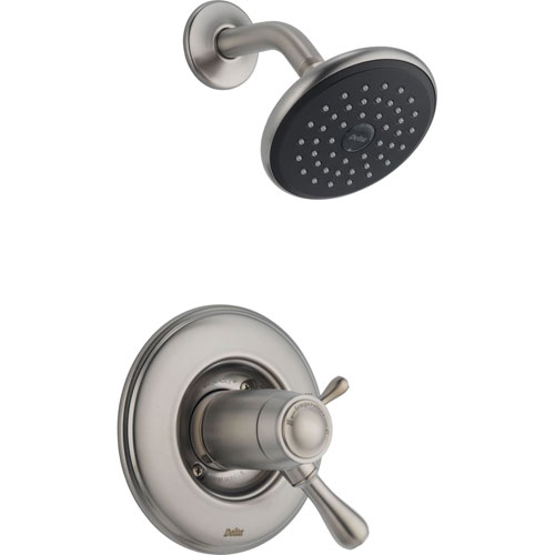 Delta Leland Stainless Steel Finish Thermostatic Shower Only Faucet Trim 467083