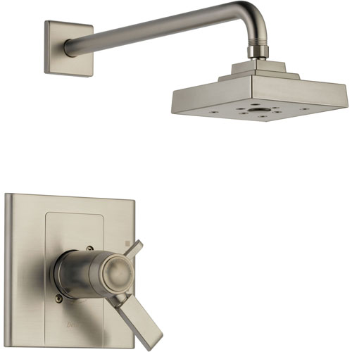 Delta Arzo Stainless Steel Finish Modern Thermostatic Shower Control Trim 550131