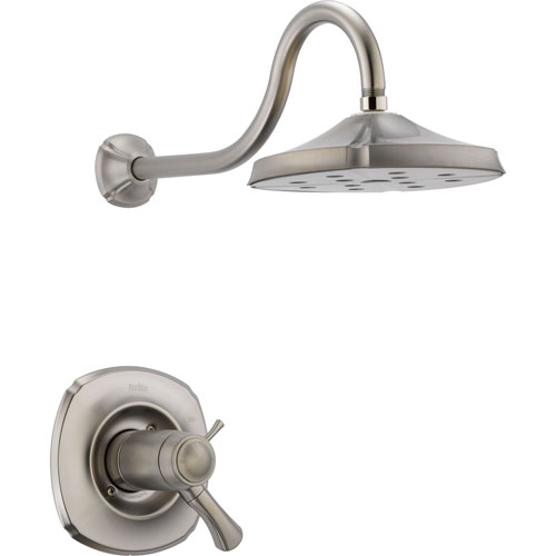 Delta Addison Stainless Steel Finish Thermostatic Shower Faucet with Valve D850V
