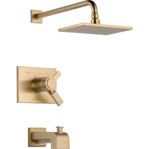 Delta Vero Thermostatic Dual Control Champagne Bronze Tub & Shower w/Valve D501V