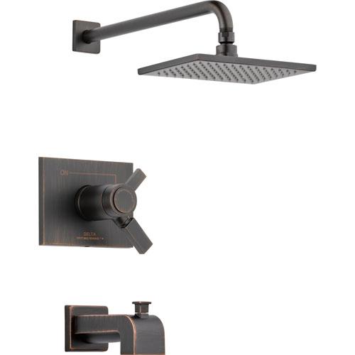 Delta Vero Thermostatic Dual Control Venetian Bronze Tub & Shower w/ Valve D531V