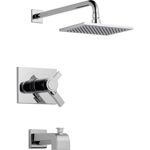 Delta Vero Thermostatic Dual Control Chrome Tub and Shower Faucet Trim 521940