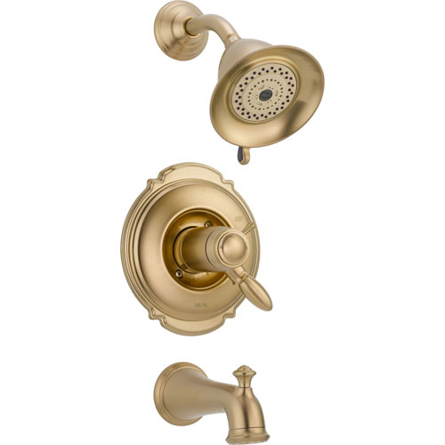 Delta Victorian Thermostatic Champagne Bronze Tub & Shower with Valve D505V