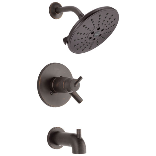 Delta Trinsic Collection Venetian Bronze TempAssure 17T Series Watersense Thermostatic Tub and Shower Combo Faucet Includes Valve with Stops D2232V