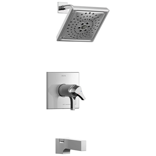 Delta Zura Collection Chrome Modern TempAssure 17T Temperature and Volume Dual Control Tub and Shower Faucet Combination Includes Valve without Stops D1922V