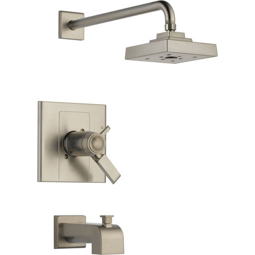 Delta Arzo Thermostatic Dual Control Stainless Steel Tub & Shower Trim 550136