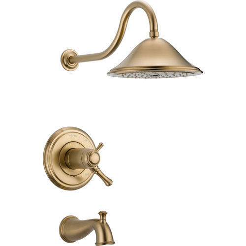 Delta Cassidy Champagne Bronze Dual Thermostatic Large Tub/Shower Trim 584226