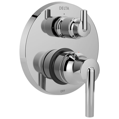 Delta Trinsic Chrome Monitor 14 Shower Faucet Valve Trim Control Handle with 3-Setting Integrated Diverter Includes Trim Kit and Valve with Stops D2219V
