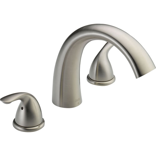 Delta Classic Stainless Steel Finish Roman Tub Filler Faucet with Valve D895V