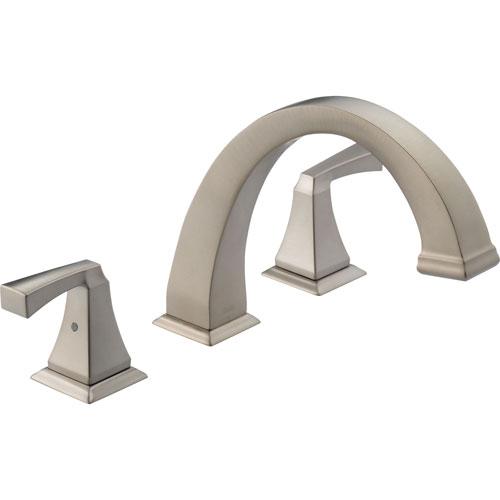 Delta Dryden Modern Stainless Steel Finish Roman Tub Faucet Trim Kit 457125
