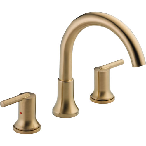 Delta Trinsic Modern Champagne Bronze Roman Tub Filler Faucet Trim Kit 590151