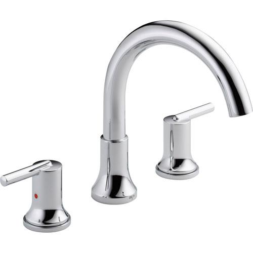 Delta Trinsic Modern Chrome 2-Handle Roman Tub Filler Faucet Trim Kit 590152
