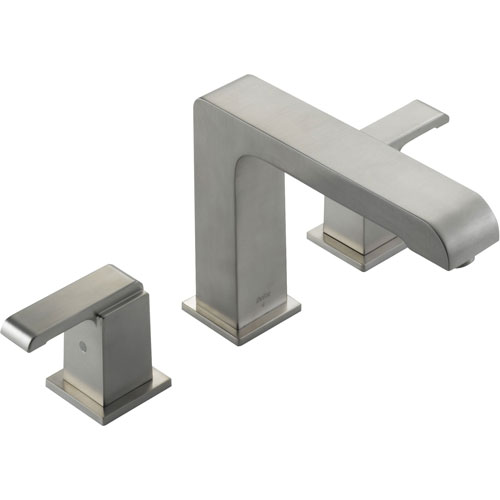 Delta Arzo Modern Square Stainless Steel Finish Roman Tub Faucet Trim 352489