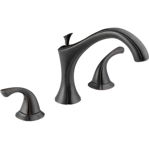 Delta Addison Modern Venetian Bronze Roman Tub Filler Faucet with Valve D921V