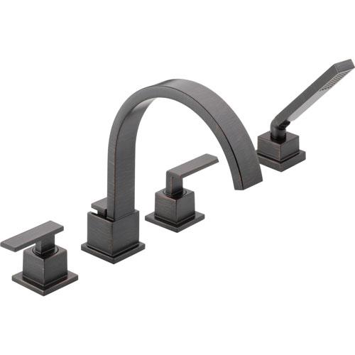 Delta Vero Venetian Bronze Roman Tub Faucet Trim Kit with Handshower 555960