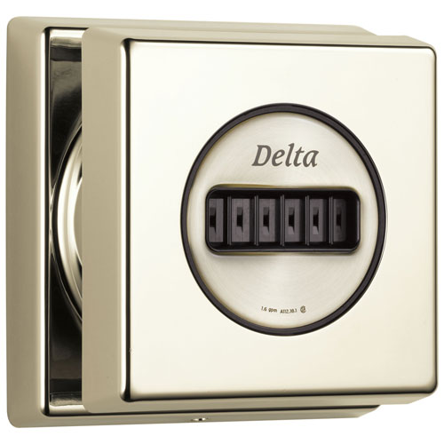 Delta Polished Nickel Finish H2Okinetic Wall Mounted Adjustable Shower Body Spray Includes Rough-in Valve D2062V