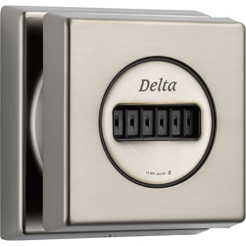 Delta Square H2Okinetic Stainless Steel Finish Body Spray with Valve D959V