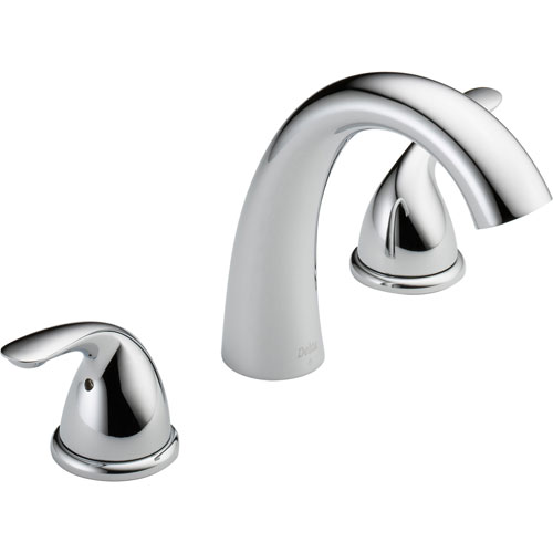 Delta Classic 2-Handle Deck Mount Roman Tub Faucet Trim Only in Chrome 550143
