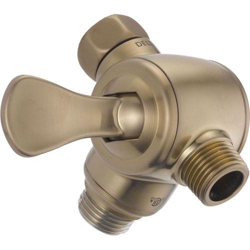 Delta 3-Way Shower Arm Diverter for Handshower in Champagne Bronze 617398